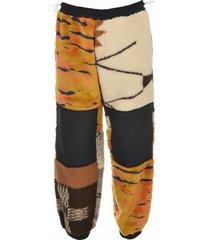 pantalone patchwork fleece