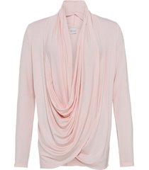 maglia con scollo a cascata (rosa) - bodyflirt