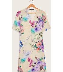 vestido floral beige 6