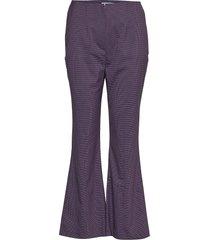 flaunt broek met wijde pijpen paars libertine-libertine