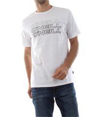 o'neill 9a2328 triple logo tee t shirt and tank men white