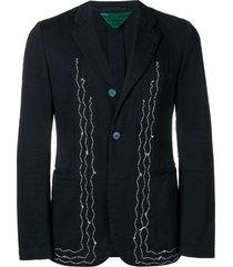 comme des garçons pre-owned 2000's stitched blazer - blue