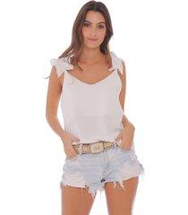 camisa de tiras con detalles boleros para mujer 100614-00