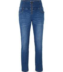 jeans cropped modellanti slim (blu) - john baner jeanswear