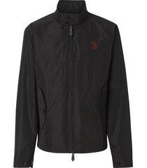 burberry monogram motif shape-memory taffeta jacket - black