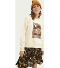 scotch & soda relaxed-fit graphic sweater