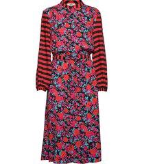 super flower sacha jurk knielengte rood mads nørgaard
