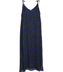 luna slip dress ns, jurk knielengte blauw tommy hilfiger