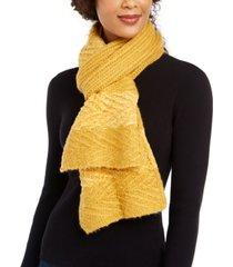 inc chenille striped arrow-stitch muffler scarf, created for macy's