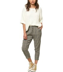 o'neill juniors' woodson cropped plaid pants