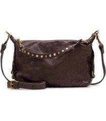 patricia nash vintage washed torcy top zip leather satchel
