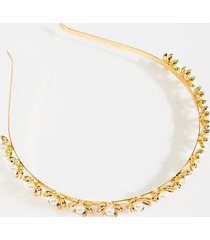 jenna gold floral headband - gold
