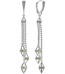 lagos caviar triangle pyramid tassel earrings in silver/gold at nordstrom