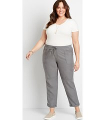 maurices plus size womens gray weekender pants