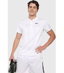 polo blanco nike court dry polo blade print