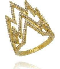 anel w.buscatti raio feminino - feminino