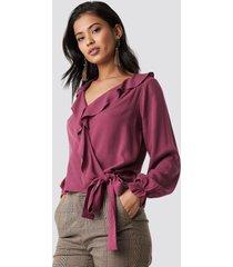 trendyol milla detailed blouse - purple