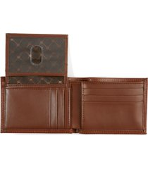 perry ellis men's leather passcase wallet