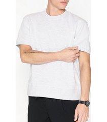 topman frost grey short sleeve sweatshirt t-shirts & linnen light grey