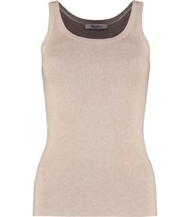 max mara nora knitted silk-cachemire blend top