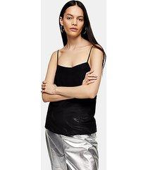 *black silk cami by topshop boutique - black
