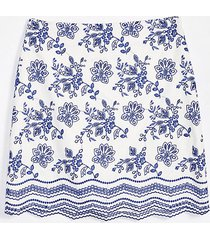 loft tall floral embroidered shift skirt