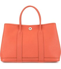 hermès pre-owned 2013 garden party tpm mini tote bag - orange