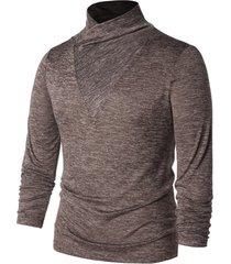 shawl collar long sleeve t-shirt