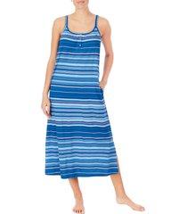 lauren ralph lauren ballet nightgown, size x-large in dark blue stripe at nordstrom