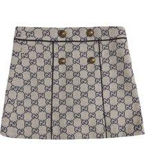 gucci logo motif skirt