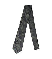 gravata alfaiataria burguesia jacquard 1260 fios preto e verde