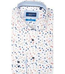 bos bright blue darwin shirt casual cut away 21107da46bo/500 multicolour