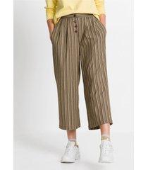 high-waist broek met knoopsluiting