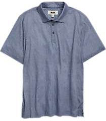 joseph abboud light blue circle polo shirt
