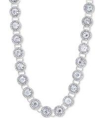 "anne klein crystal & pave collar necklace, 16"" + 3"" extender"