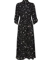 vintage drape shirt dress maxiklänning festklänning svart by ti mo