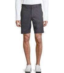pga tour men's regular-fit zip-fly shorts - caviar - size 40