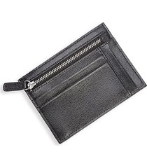 royce new york men's rfid blocking leather card case - black