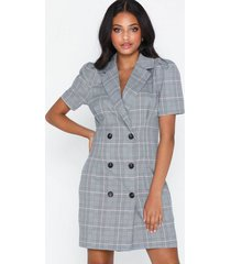 nly trend checked blazer dress loose fit