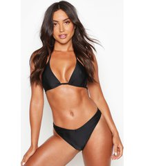 mix & match triangle bikini top, black