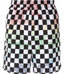 à la garçonne + olk printed nylon shorts - multicolour