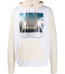 golden goose nicholas photo print hoodie - neutrals