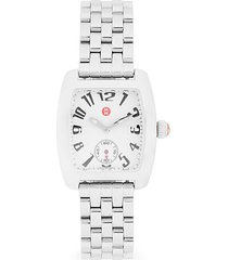 stainless steel square bracelet watch