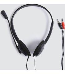 auriculares diadema con microfono color negro, talla uni
