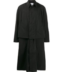 y-3 cl oversized convertible coat - black