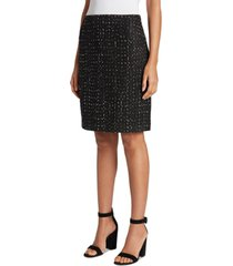 tahari asl tweed dot-print skirt