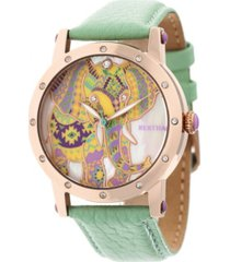 bertha quartz betsy collection rose gold and mint leather watch 38mm