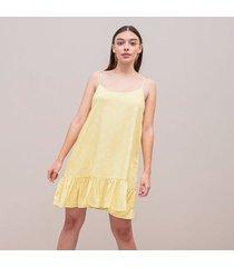 vestido amplio corto tiras honey