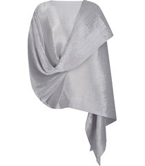 pleats please issey miyake pleated asymmetric scarf
