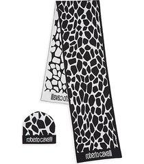 2-piece printed scarf & beanie gift set